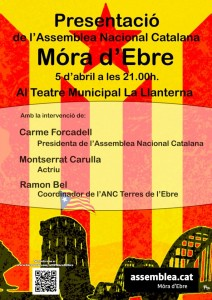 CARTELL presentació ANC-Móra d'Ebre 5-4-2013