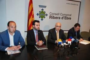 Reunió 4 presidents consells Terres Ebre 18-4-2013