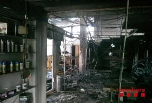 Incendi Sanamedical Móra d'Ebre 8-6-2013