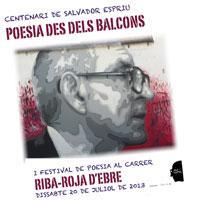 Cartell 1r festival poesia Riba-roja d'Ebre juliol 2013