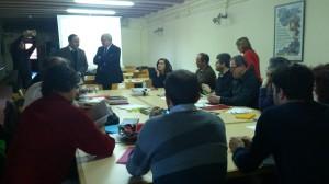 Reunió Observatori Patrimoni Etnològic i Immaterial a Mas Coixa 30-1-2014