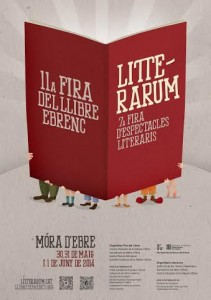 Cartell Litterarum i Fira Llibre Ebrenc 2014