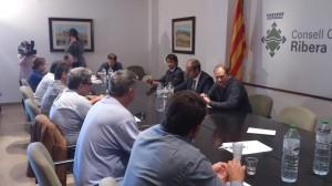 Consell d'Alcaldes Ribera d'Ebre amb president AMC 29-4-2014