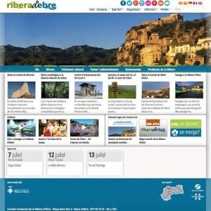 Portada web turisme Ribera d'Ebre juliol2014