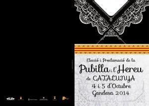 CARTELL PUBILLATGE CATALUNYA GANDESA octubre 2014