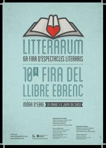 cartell2013LITTERARUM + FIRA LLIBRE EBRENC