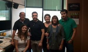 Equip Ràdio Móra d'Ebre 16-10-14 (despedida Edu)