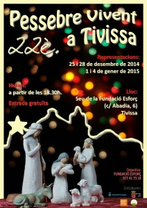 Pessebre vivent Tivissa cartell2014